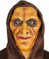 Originele hagedis man horror masker latex capuchon carnavalskleding