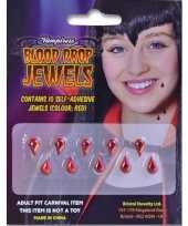 Originele halloween accessoires tien plak bloeddruppels carnavalskleding