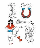 Originele halloween amy winehouse tattoos stuks carnavalskleding