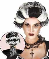 Originele halloween markies vampier dracula damespruik carnavalskleding