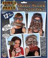Originele halloween zombie foto prop set carnavalskleding