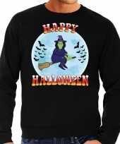 Originele happy halloween heks verkleed sweater zwart heren carnavalskleding