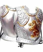 Originele harnas middeleeuwen zilver carnavalskleding
