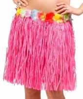Originele hawaii rokje roze carnavalskleding