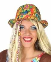 Originele hippie trilby verkleed hoedje volwassenen carnavalskleding