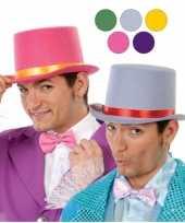 Originele hoge roode clowns hoed vilt carnavalskleding