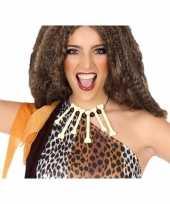 Originele holbewoners botten ketting accessoires carnavalskleding