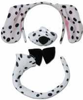 Originele hondenset dalmatier carnavalskleding