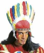 Originele indianen veren tooi carnavalskleding