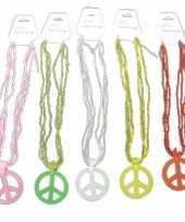 Originele ketting peace teken carnavalskleding