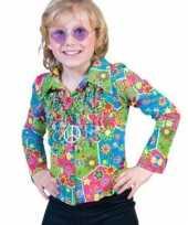 Originele kinder hippie shirt knopen carnavalskleding