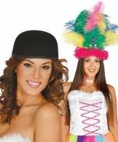 Originele knutsel materiaal basic zwart hoedje volwassenen carnavalskleding
