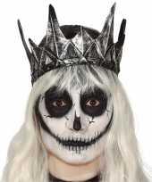 Originele koning koninginnen verkleed kroon zilver carnavalskleding