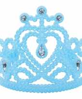Originele koninginnen prinsessen tiara blauw carnavalskleding