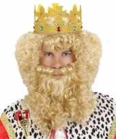 Originele konings pruik carnaval carnavalskleding