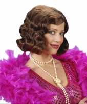 Originele korte maffia dames pruik carnavalskleding