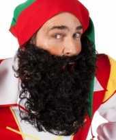 Originele krulletjes baard zwart carnavalskleding