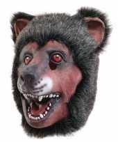 Originele latex dierenmasker beer carnavalskleding