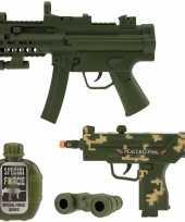Originele leger speelgoed pistool wapen set carnavalskleding