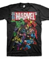 Originele marvel team shirt heren carnavalskleding