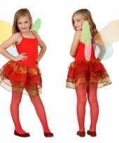Originele meisjes vlinder carnavalskleding rood