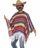 Originele mexicaanse poncho volwassenen carnavalskleding