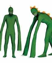 Originele monster reptielen carnavalskleding lange armen heren