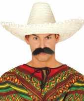 Originele naturel sombrero mexicaanse hoed volwassenen carnavalskleding 10148187