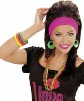 Originele neon festival armbandjes carnavalskleding