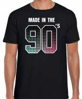 Originele nineties t-shirt made the s geboren jaren zwart heren carnavalskleding