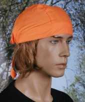 Originele oranje hoofddoekje uni carnavalskleding