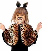Originele peuter luipaard verkleed ponchos carnavalskleding