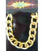 Originele pimp armbanden goudkleurig carnavalskleding