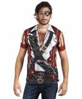 Originele piraten t shirt lange mouwen carnavalskleding