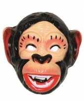 Originele plastic apen masker volwassenen carnavalskleding