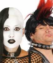 Originele punker nep piercings zilver x carnavalskleding
