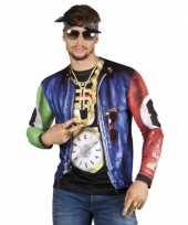 Originele rapper t shirt lange mouwen carnavalskleding