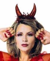 Originele rode duivel diadeem dames carnavalskleding