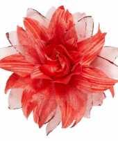 Originele rode haarbloem glitters carnavalskleding 10069888