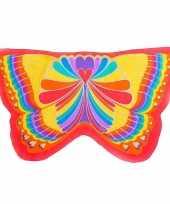 Originele rode regenboog vlinder vleugels kinderen carnavalskleding