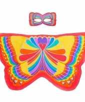 Originele rode regenboogvlinder verkleedset meisjes carnavalskleding
