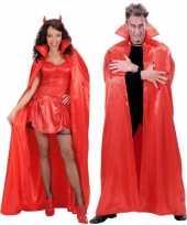 Originele rode verkleed cape volwassenen carnavalskleding