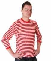 Originele rood wit gestreepte dorus truien heren carnavalskleding