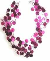 Originele roze accessoires roze pailletten carnavalskleding