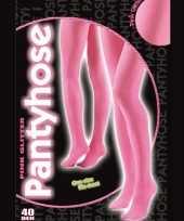 Originele roze glitter pantys denier carnavalskleding