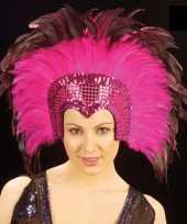 Originele roze hoofdtooi volwassenen carnavalskleding