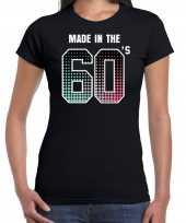 Originele sixties t shirt shirt made the s geboren jaren zwart dames carnavalskleding