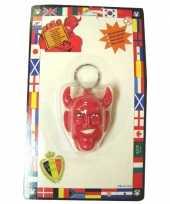 Originele sleutelhangertjes duivelshoofd carnavalskleding