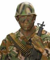 Originele soldaten helm camouflage carnavalskleding