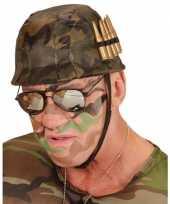 Originele soldaten helm kogels carnavalskleding